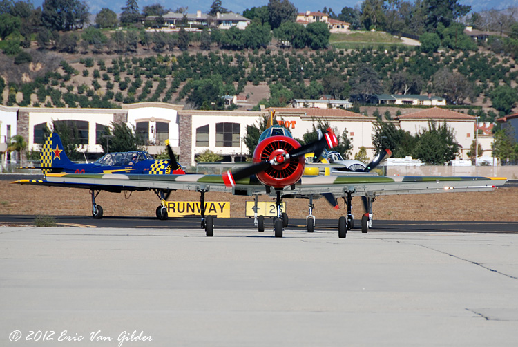 Yak-52 group arriving from San Diego