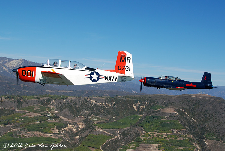 Marc Russell in his T-34 and Ron Lee in his Nanchang