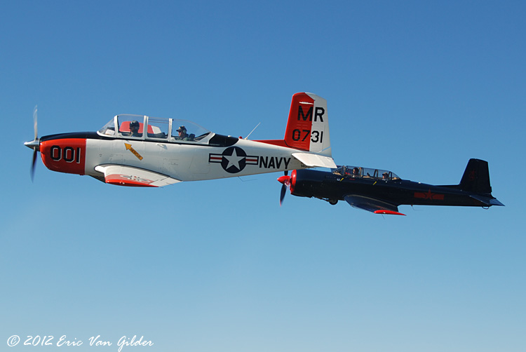 Marc Russell in his T-34 Mentor and Ron Lee in his