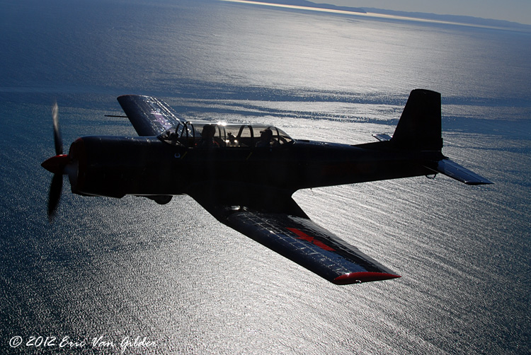 Ron Lee in his Nanchang CJ-6A.