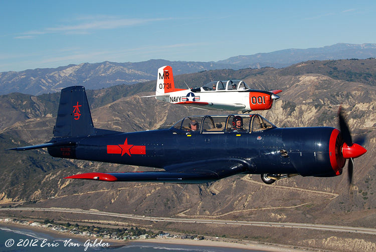 Ron Lee in his Nanchang CJ-6A and Marc Russell in