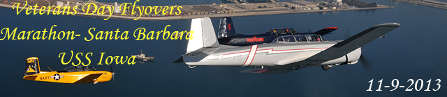 Click here for the Santa Barbara Veteran's Day Marathon           and USS Iowa flyovers gallery