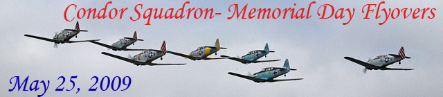 Click here for the Memorial Day 2009 flyover           gallery