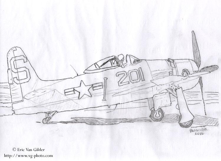笔手绘图片飞机