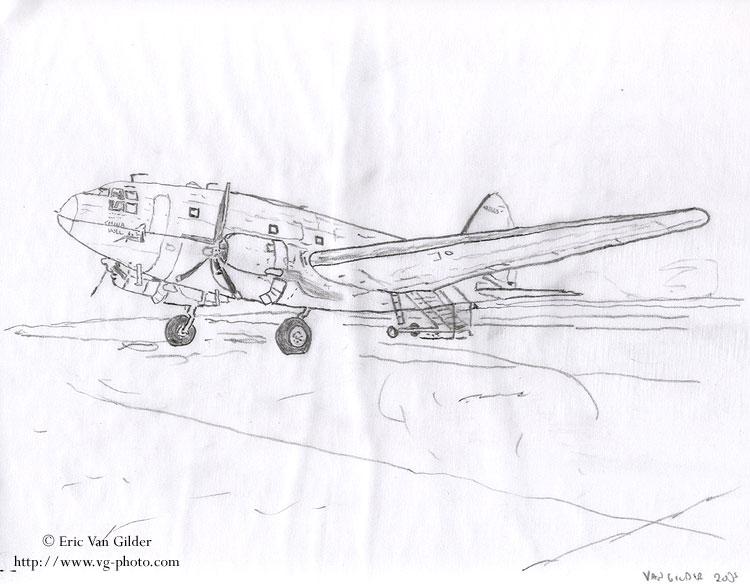 绘画飞机边框手绘