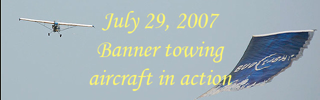 Click here for the Banner towing aircraft in action article